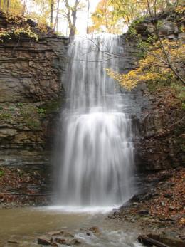 Upper Sydenham Falls in Autumn