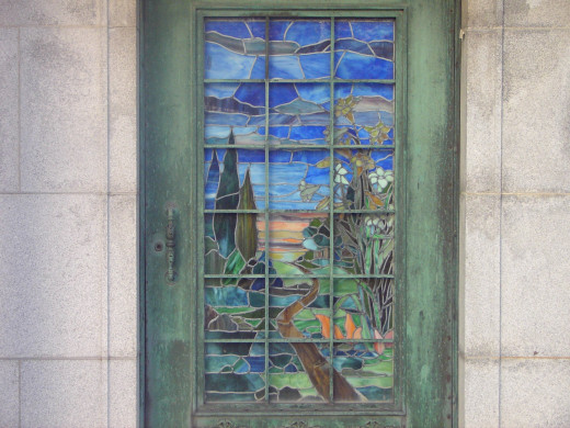 The beautiful Van Clief stained glass door.  The reason I took the photo.