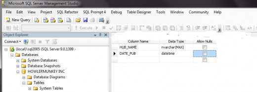 Create\ing a simple 2 Column Table