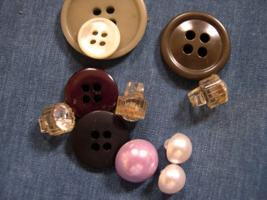 Shank buttons make an outfit look more expensive, and pearl-look buttons can do the same.