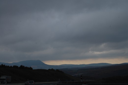 A75 going south from Clermont-Ferrand