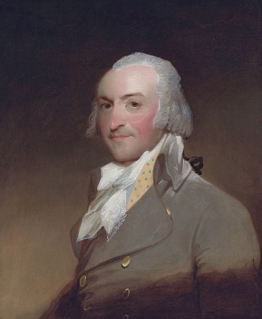 John Jacob Astor, detail of an oil painting by Gilbert Stuart, 1794; in the Brook Club, New York
