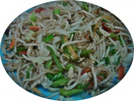 Vegetable Egg Noodles