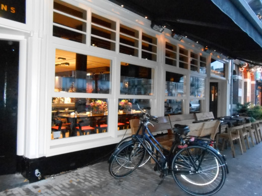 It is quite common to bike to dinner and park your bike outside the restaurant.
