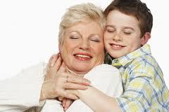 loving grandma and grandson