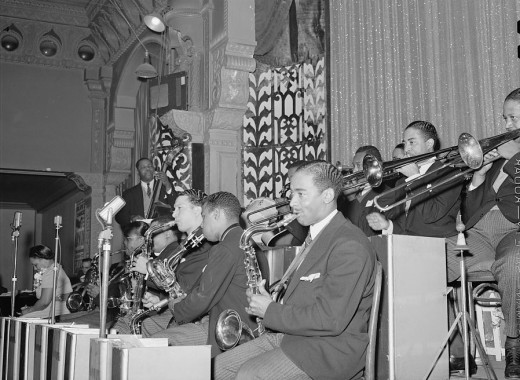 Jazz Band plays at Savoy Ballroom on the South Side of Chicago, April 1941.