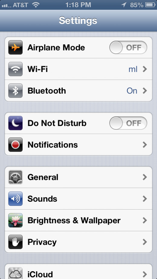 "In the settings menu, tap on ""iCloud""."