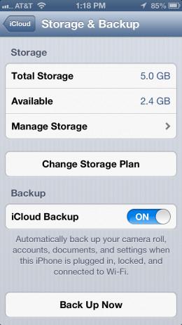 "Tap on ""Manage Storage""."