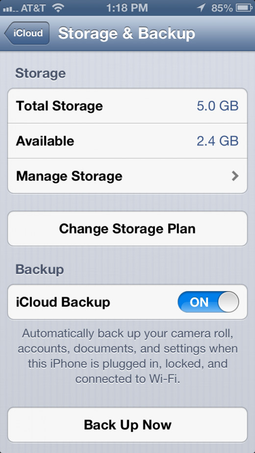 "Tap on ""Manage Storage""."