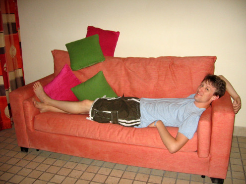 You may want to consider if you prefer a bed over a sofa.  Is your height a factor to consider in couch surfing?