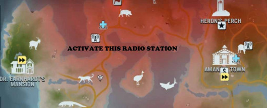Farcry 3 find Dr Earnhardt after activating the radio station near his mansion