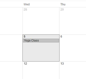Get events on a calendar and review it often.