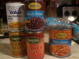 You could use canned beans in a pinch, but beans made from scratch are healthier.