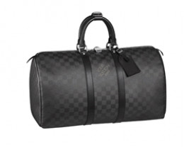 Louis Vuitton's Damier Carbone Keepall Holdall