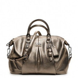 Madison Metallic Leather Juliette COACH Handbag $378