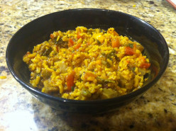 Rice and Veggies (with Chicken or Eggplant)