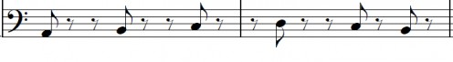 Changing the order of the first four notes to create a jazzy bass line