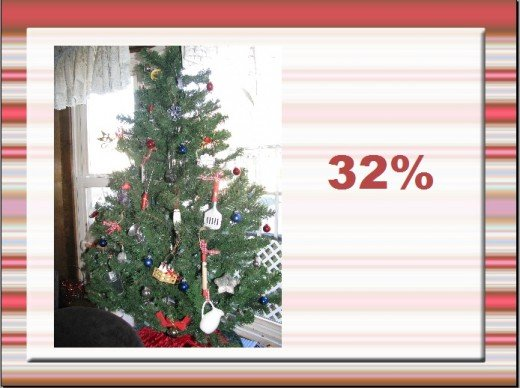 Engage your audience....this slide means 32% of American households do NOT have Christmas trees.