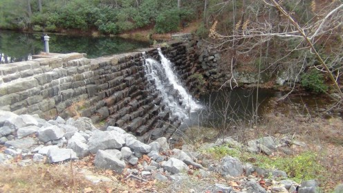 The dam at Otter Creek was still well worth a visit despite the restaurant being closed.