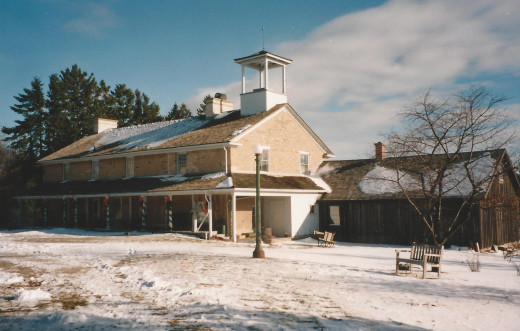 Ground view of Ireland House as it looked in winter 1992.