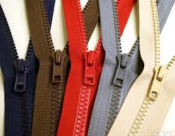 Separating zippers are available in many lengths, metal, plastic, wide and narrow.