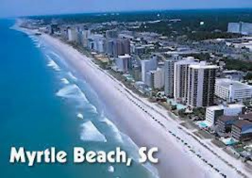 Myrtle Beach, South Carolina has beautiful and clean beaches as this postcard illustrates. Not to mention the nightlife which never seems to stop especially during the spring and summer.