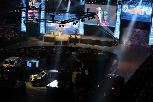 Weigh In Stage at the Bassmaster Classic