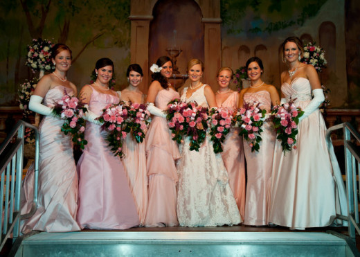 Camellia Ball debutantes wear pink, which is based on a local Camellia flower.