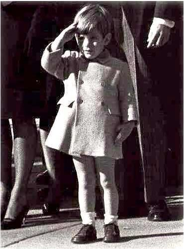 LOSS OF INNOCENCE Darkness Swept Upon America in June 17, 1963 when the Supreme Court declared Bible reading in public schools unconstitutional.  Pictured above is John F. Kennedy, Jr. His father was assassinated on November 22, 1963.
