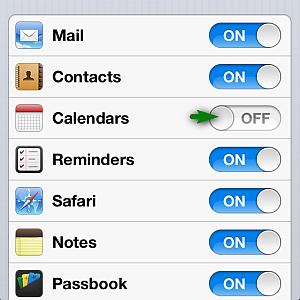 Enabling iPhone calendar sync with iCloud