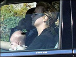 Britney Driving With Her Son in Her Lap