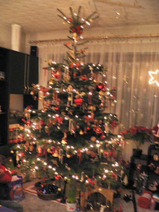 Sorry about the poor quality - it is hard to make a photo with only the Christmas tree lights on :)