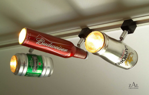 Beer Can Track Light / Track Head