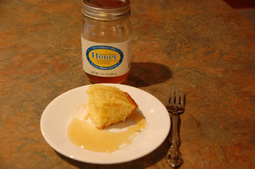 Cornbread with local honey