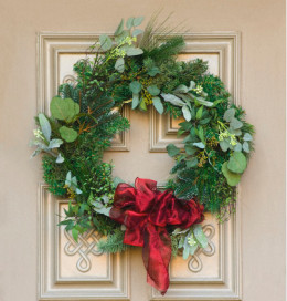 Make a large wreath bow for your door.