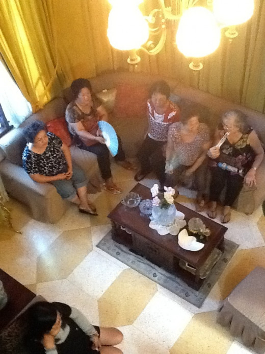 Guests in the living room