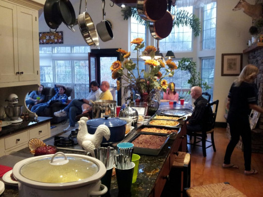 Thanksgiving at Mom's.