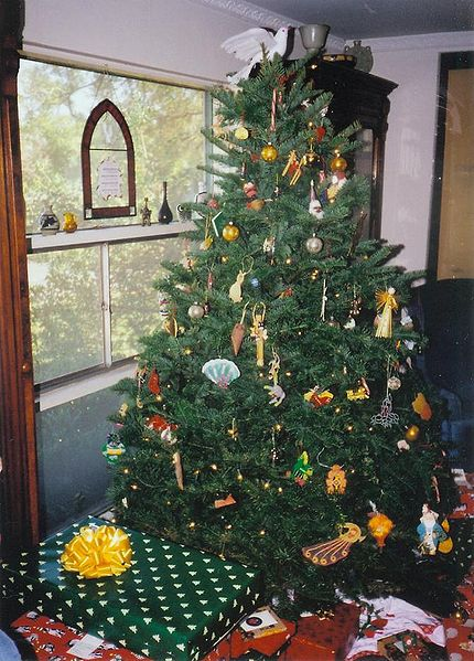 Typical American Christmas tree.