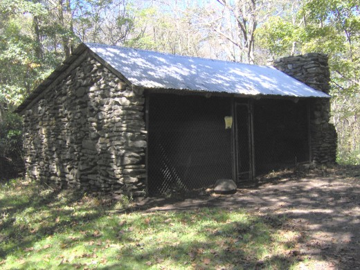 Russell Field Shelter - typical of the shelters we stayed in throughout GSMNP
