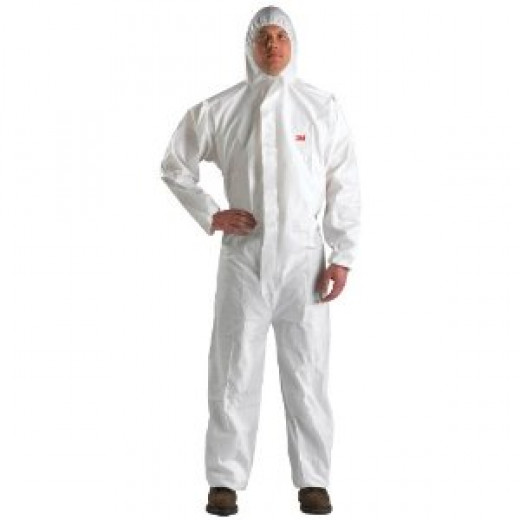 Man in a protective suit