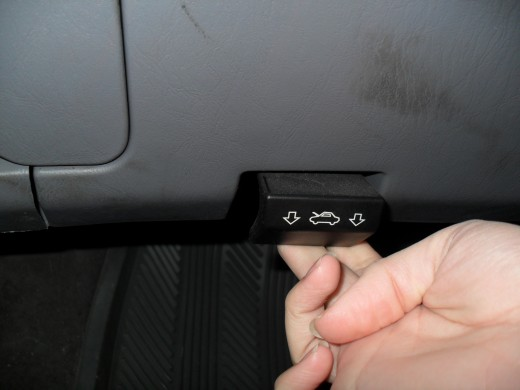 To open your hood, first pull the latch or press the button located inside your car