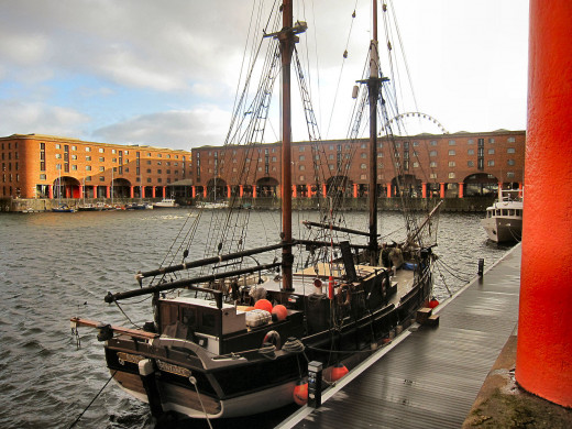 Anothe view of the Albert Docks complex at Liverpool