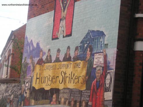 Hunger Strikers Wall Mural of IRA members