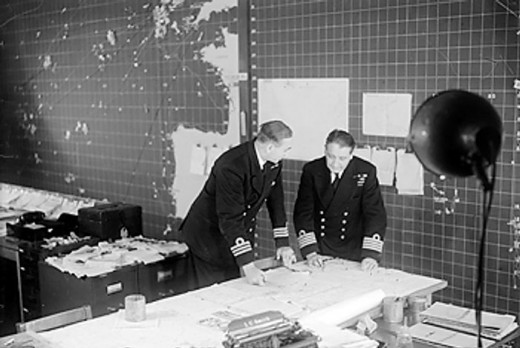 The Operations Room at the heart of the Western Approaches Command Complex, Derby House, Liverpool