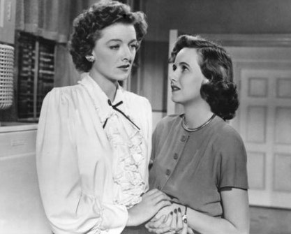 Myrna Loy and Teresa Wright