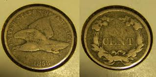 This is a great example of a worn 1858 Flying Eagle cent. This is very close to what most Flying Eagle cents look like due to their high circulation.