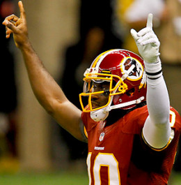 RGIII is one of the most dynamic players in the league and has the Redskins looking for a playoff spot and potential division crown.