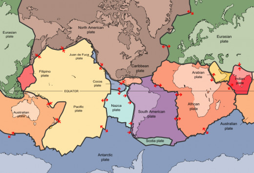 This map clearly show the tectonic plates that make up the Ring of Fire.