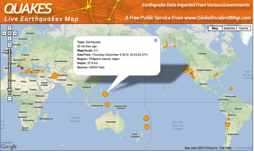 Right after Typhoon Bopha moved into the South China Sea this earthquake rocked the northern Philippines.