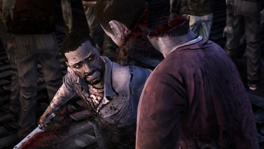 Screen shot from episode 5 of The Walking Dead game